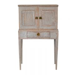 Carved 18th Century Gustavian Cabinet Cupboard