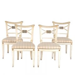 Four Painted Swedish Dining Chairs