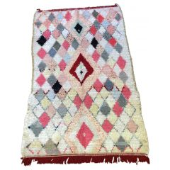 VINTAGE BOUCHEROUITE RUG FROM MOROCCO-KCL&Co126