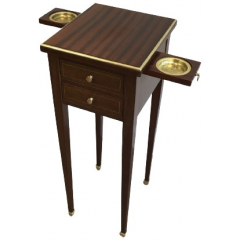 Small Drawers Table With Sliding Brass Ashtrays