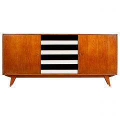 Model U-460 Monochrome Sideboard by Jiri Jiroutek for Interier Praha, 1960s