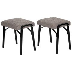 Midcentury Czech Stools, Set of Two