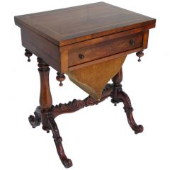 Early Victorian Rosewood Work/Games Table