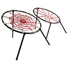 Midcentury Plan O Hoffer Spider Chairs Lounge Patio Chairs French, circa 1958