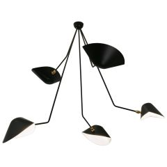 Ceiling PendantSpider Lamp with Five Broken Arms by Les Editions, Serge Mouille
