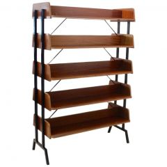 Dutch Teak Wood Shelving Free Standing Library