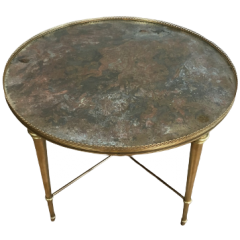 Neo-Classical Style Brass Coffee Table