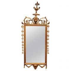 19th Century Giltwood Regency Style Narrow Rectangular Mirror