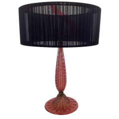 BEAUTIFUL BAROVIER AND TOSO RUBY COLOURED GLASS LAMP