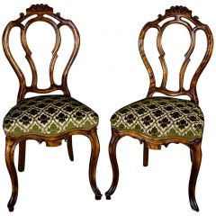 Pair of 19th Century Swedish Rococo Biedermeier Dining Chairs
