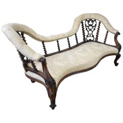Victorian Rosewood Chaise Lounge or Sofa