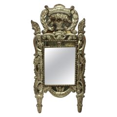 18th Century Venetian Mirror in Silver Leaf