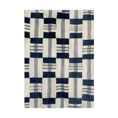 Blue & White Kente Cloth