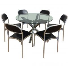 Midcentury Dining Table and Chairs