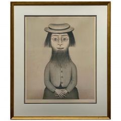"LS Lowry ""Woman with Beard"" Signed & Stamped Limited Edition Print"