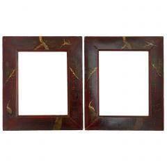 Pair of Picture Frames Chinoiserie Laquer, 20th Century