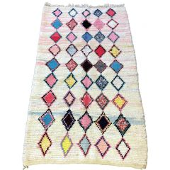 VINTAGE BOUCHEROUITE RUG FROM MOROCCO