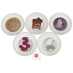 Set of Five Ferrero Collection Plates