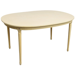 Gustav Birch Oval Table (with 2 leaves)