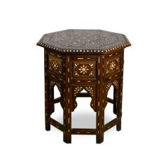 Fine 19th Century Hoshaipur Octagonal Table