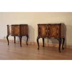Pair of vintage Chippendale Art Deco 1920 Italy bedside tables