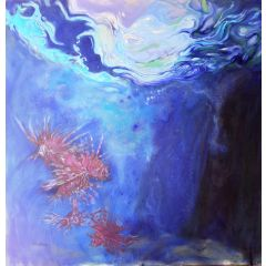 Under the Water Painting by Perez Petriarte