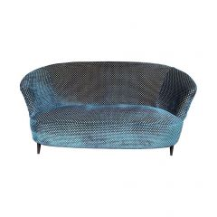 Lovely 1950S Gio Ponti Style Italian Two-Seat Sofa In Designer Guild Fabric