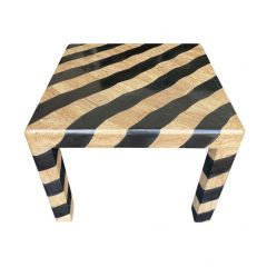 MAITLAND SMITH COFFEE TABLE WITH TESSELLATED MARBLE ZEBRA PATTERN FINISH