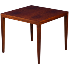 Mid-Century Danish Rosewood Coffee or Side Table by Severin Hansen for Haslev Møbelsnedkeri, 1950s