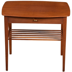 Mid-Century Danish Teak Side Table with Small Drawer, 1960s