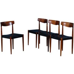 Mid-Century Rosewood Dining Chairs by Knud Færch for Slagelse Møbelværk, 1950s, Set of 4