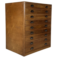 1940S Plan Chest With Brass Cup Handles