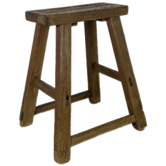 RUSTIC WOODEN STOOL W300