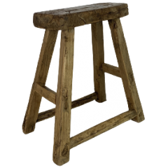 RUSTIC WOODEN STOOL W301