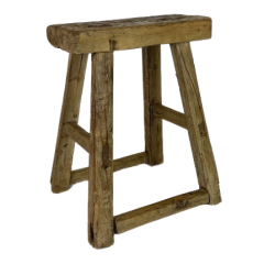 RUSTIC WOODEN STOOL W302