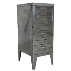 Stripped and polished steel filing drawers