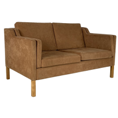 Mogensen style 2 seater light brown sofa by Stouby
