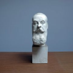 PLASTER BUST SIGNED E. MOLINEAUX
