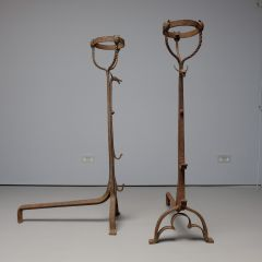 Pair of large early 20thc andirons