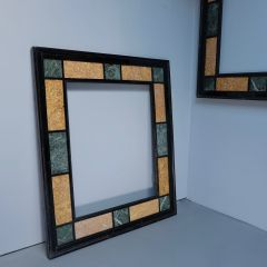 LARGE RARE PAIR OF 19C MARBLE MIRROR FRAMES. A/F