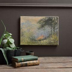 Impressionist Oil of Woodland Fire