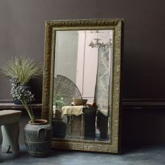 Large Foxed Antique Gilt Mirror