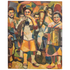 Aymery Rolland Musician Painting