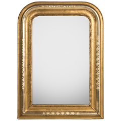 Mirror with X-etchings