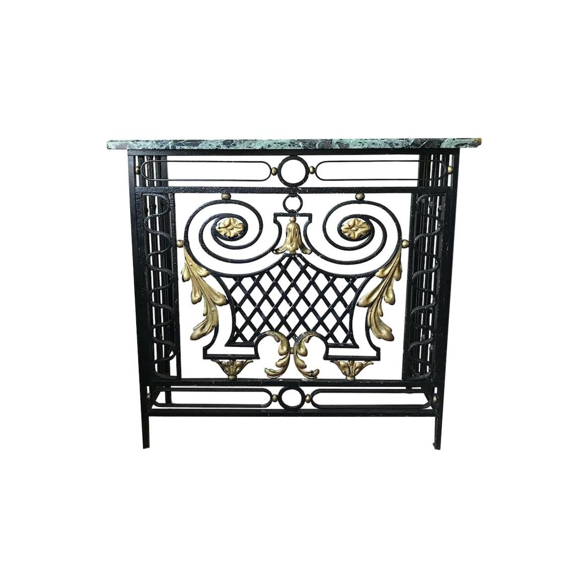1920s Marble And Gilt Metal Console Radiator Cover For Sale The Kairos Collective Uk