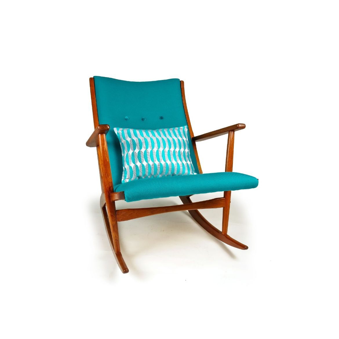 Image of: A Danish 1950 S Mid Century Rocking Chair By Holger Georg Jensen
