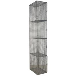 WIRE MESH LOCKERS WITH 4 COMPARTMENTS