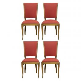 Four Art Deco Dining Chairs French to Recover / Restore, circa 1930