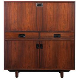 1960s Italian Rosewood Credenza Or High Sideboard By 'Stildomus'