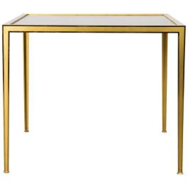 Golden Square Brass Coffee Table from Vereinigte Werkstätten, 1960s
